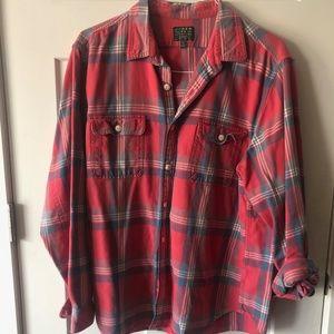 J. Crew Plaid Long Sleeve Shirt - XL